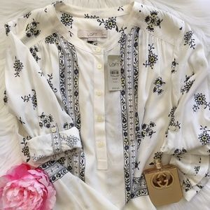 NWT LOFT Long-Sleeve Women Blouse / Top Sz XXSPet.